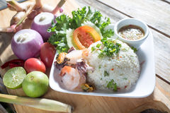 Wyśmienicie ryż z owoce morza Zdjęcie Royalty Free