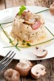 Wyśmienicie ryż z pieczarkami i rozmarynami, risotto obrazy stock