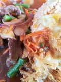 Wyśmienicie smażący jajko z ryż Zdjęcie Royalty Free