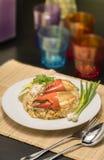 Wyśmienicie smażący ryż z krabem Fotografia Stock