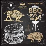 Wyśmienicie soczysty hamburger Nakreślenie ilustracja Fotografia Stock
