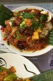 Wyśmienicie Tajlandzki jedzenie jak piękny obrazek zdjęcie royalty free