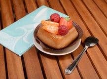 Owocowy tarta deser Zdjęcia Stock