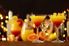 Wyśmienicie tequila wschodu słońca koktajle Fotografia Royalty Free
