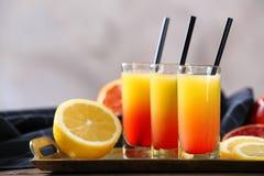 Wyśmienicie tequila wschodu słońca koktajle Fotografia Stock