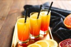 Wyśmienicie tequila wschodu słońca koktajle Zdjęcia Royalty Free