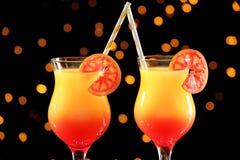 Wyśmienicie tequila wschodu słońca koktajle Zdjęcie Royalty Free