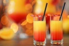 Wyśmienicie tequila wschodu słońca koktajle Obrazy Royalty Free