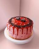 Wyśmienicie tort z czekoladowego układu scalonego i truskawkowego dżemu dekoracją obrazy royalty free