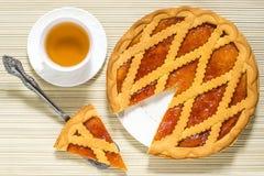 Wyśmienicie tort z morelowym dżemem obrazy royalty free