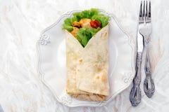 Wyśmienicie tortilla Fotografia Royalty Free