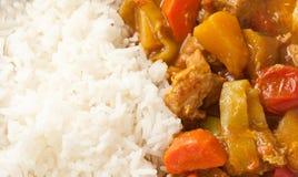 Wyśmienicie wieprzowiny curry'ego zakończenie wyśmienicie Obraz Stock
