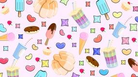 Wyśmienicie wzór cukierki royalty ilustracja