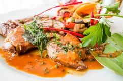 Wyśmienita Francuska kuchnia Obrazy Royalty Free