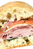 wyśmienita włoska prosciutto salami kanapka Fotografia Stock