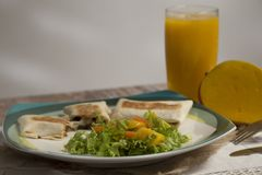 Wyśmienitego jedzenia naczynia towarzyszący z lemoniadą - wołowina - zdjęcia royalty free