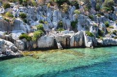 Wyśmienity przygotowania kamienie w Greckich wyspach obraz royalty free