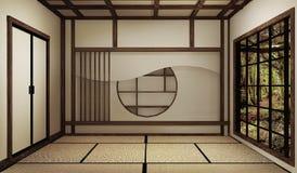 Wyśmiewa w górę, japończyka tata pusta izbowa mata Projektuje pięknego ?wiadczenia 3 d zdjęcia stock