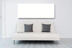 Wyśmiewa w górę pokazu bielu ramy andTablet na bielu fotografia stock