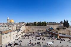 Wy ściana Jerozolima, Izrael, - Obraz Royalty Free