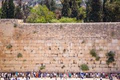 Wy ściana w Jerozolima Zdjęcia Royalty Free