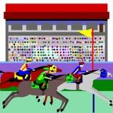 wyścigi konne royalty ilustracja