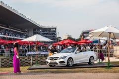 Wyścigi Konny wydarzenia samochodu promocje Zdjęcie Royalty Free