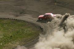 wyścigi samochodów czerwone. Zdjęcia Royalty Free