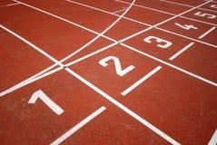wyścigowy biegacze torów Obrazy Stock