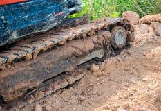 Wyśledzony pojazd pracuje w gospodarstwie rolnym Zdjęcia Royalty Free