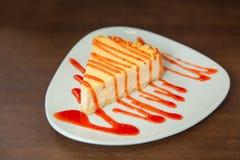 Wyśmienicie cheesecake z truskawkami Obrazy Royalty Free