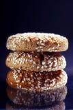 Wyśmienicie ciastko z sezamowymi ziarnami Zdjęcia Stock