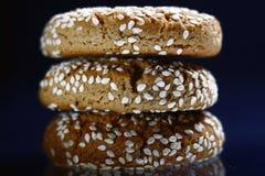 Wyśmienicie ciastko z sezamowymi ziarnami Obraz Stock