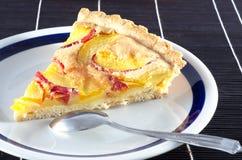 Wyśmienicie domowej roboty brzoskwinia kulebiak Fotografia Stock