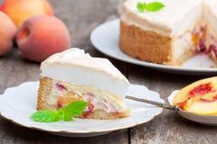Wyśmienicie domowej roboty brzoskwinia kulebiak Zdjęcie Stock