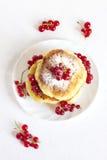 Wyśmienicie domowej roboty serowi bliny Fotografia Stock