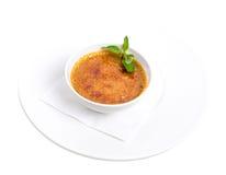 Wyśmienicie francuski deserowy kremowy brulee Zdjęcie Stock