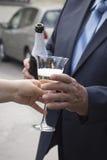 Wyśmienicie Francuski szampan Zdjęcia Royalty Free
