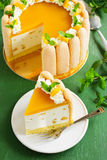 Wyśmienicie funta tort Charlotte z mango Obrazy Stock