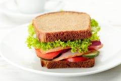 Wyśmienicie i zdrowa kanapka Obrazy Stock