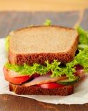 Wyśmienicie i zdrowa kanapka Obrazy Royalty Free