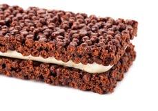 Wyśmienicie i zdrowy czekoladowy bar z Fotografia Royalty Free