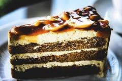 Wyśmienicie kawowy tort Zdjęcia Stock