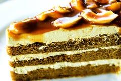 Wyśmienicie kawowy tort Obrazy Stock
