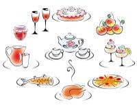Wyśmienicie napój i jedzenie ilustracji