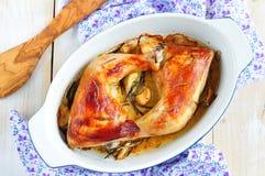 Wyśmienicie piec kurczak z rozmarynów i czosnku kumberlandem Zdjęcie Royalty Free