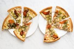 Wyśmienicie pizza na talerzu Zdjęcie Stock