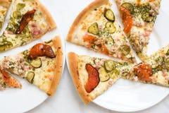 Wyśmienicie pizza na talerzu Obraz Stock