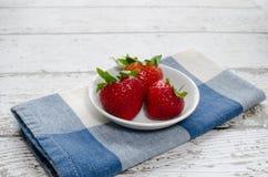 wyśmienicie truskawki trzy Zdjęcie Royalty Free