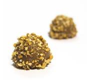 Wyśmienity czekoladowy praline - odosobniony Zdjęcie Royalty Free